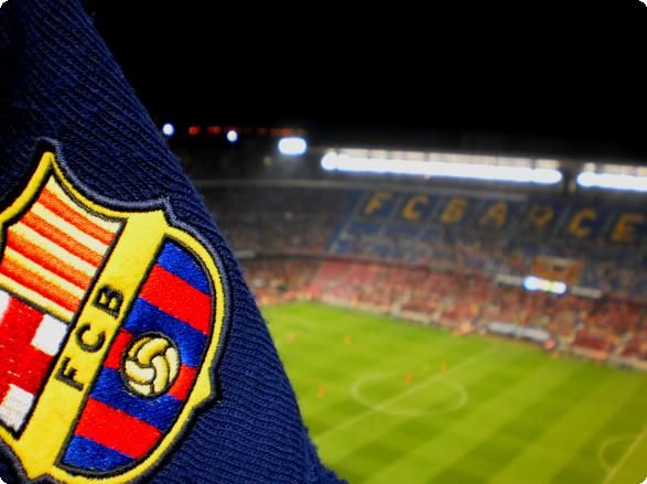 Camp Nou med tørklæde